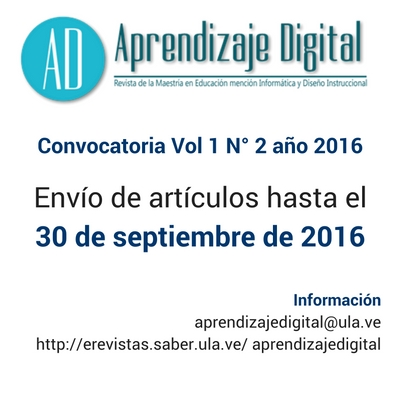 Convocatoria RAD Vol1N2Año2016
